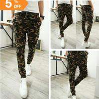 camo pants for men - Camo baggy Joggers New Arrival Fashion Slim Fit Camouflage Jogging Pants Men Harem Sweatpants Cargo Pants for Track Training BY0000