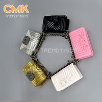 Hangbags bag princesses - CMK KB079 Mini Size cm Boy Multi colo for Princess Small Metal Chain Shoulder Mini Bag for Kids Handbag Children Bags Kid Handbags