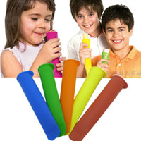 Wholesale Durable New Ice Pop New Safe Silicone Ice Cream Maker Popsicle Molds Fast Shipping Random Color