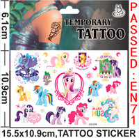 Wholesale My Little Pony Cartoon Temporary Tattoo stickers rusteze avengers alliance Tattoo stickers