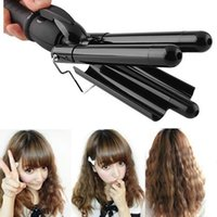Wholesale 2015 New Women Best Gift Hair Styler Curling Tong Ceramic Barrel Waving Wand Hair Curler Roller