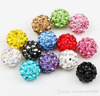 beads for jewelry - MIC Colors mm Clay CZ Crystal Disco Ball Spacer Beads For Pave Bracelet Hot Sell Jewelry