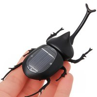Wholesale 10pcs Solar Toy Beetle Energy saving Beetle with Solar Panel Solar Powered Toy for Children