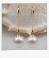 Wholesale PERFECT ROUND AAA SOUTH SEA GENUINE MM WHITE LOOSE PEARL EARRING K