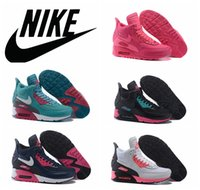 high white - nike Air Max Winter sneakerboot pink women running shoes high top white blue Maxes shoes waterproof leather athletic sneaker shoes