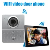 Wholesale wireless P2P video porteiro interfone telefone WIFI video door phone door camera doorbell with Night Vision Recorded video
