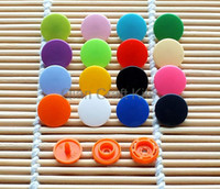 Wholesale 800 Sets T5 MM Plastic Resin Snaps fastener For Crafts Baby Clothes Bibs Diapers and Scarves mixed or pick color