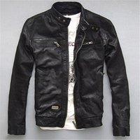 Wholesale Fall Fashion Black Mens Motorcycle Genuine Leather Jackets Famous Brand Casual Biker Jacket High Quality Sheepskin Harley Coat xxxxl
