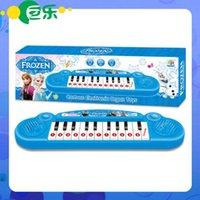 Varejo princesa Congelado Anna Elsa meninas brinquedos Crianças órgão eletrônico Teclado eletrônico Electone desenhos animados com música 8 Canção novas 20pcs