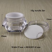 acrylic canisters - 15g Acrylic Cream Jar Bottle Plastic Cosmetic Container Packaging Makeup Canister Sample Mask Sub bottling With Screw Lid