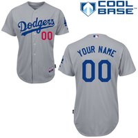 los angeles - NEW Stitched Custom Men s Baseball Jersey Los Angeles Dodgers Blank Cool Base Jersey Shirt