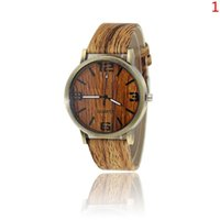 ancient pin - HOT Watch Geneva four figures of men and women fashion watch imitation wood Fashion green ancient wood grain watches MIXS color DHL