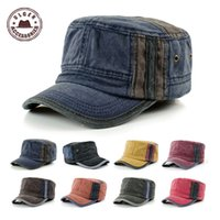 ancient military - Gorras Planas Gorras Fashion Color Matching Tide Restoring Ancient Ways And Flat Caps Baseball Hat Cotton Military Cap gen