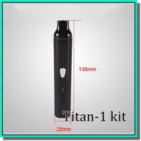 Cheap 2014 Newest dry herb e cigarette TITAN1 ecig kit herbal vaporizer TITAN I vaporizer pen TITAN 1 vaporizer with adjustable temperature system
