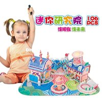 animal research - Le Si A104 Mini Research Institute Children s DIY creative painting puzzle D stereo puzzle holiday gift