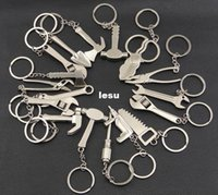 adjustable spanner wrenches - Fashion Hot Keychain Metal Adjustable Tool Wrench Spanner Keyring Creative