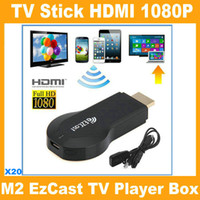 Wholesale Ezcast W2 M2 iPush Chromecast TV Dongle HDMI Support Miracast DLNA Airplay Wireless Streaming Media Player Push to TV Projector V762