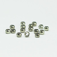 Wholesale Cheap Holiday Accessories - Beadsnice platina plated brass big hole beads round smooth beads diy bracelet accessories cheap beads online ID 10406