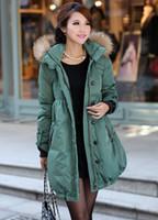 Wholesale maternity clothing Winter long coat women s jackets raccoon big fur plus size clothing down coats wadded jacket outerwear size S XL