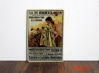 barcelona posters - Metal tin signs quot monumental barcelona quot retro poster House Cafe Bar PUB wall Art decor painting iron crafts CM