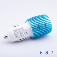 Wholesale Mini Car Charger Adapter Port USB Car Charger Micro Auto Universal Dual A For iPhone iPad iPod android