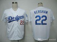 Wholesale Hot sale Men s Dodgers Kershaw White size Baseball Jerseys Cheap Outdoor Uniforms Sports Jersey Allow Mix Order
