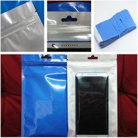 no acc wholesale - 10 cm cm Clear blue pearl Plastic Poly OPP packing zipper Zip lock Retail Packages PVC bag for cable phone case acc