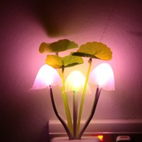 abs pot - V AC ABS LED Night Light Mushroom Potting Lamp Light Sensor Control Colorful Light for Home Party Decoration