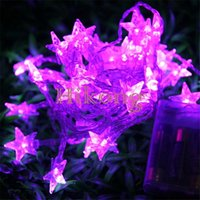 Wholesale Battery m Led Fairy String Light Five pointed Star for Christmas Xmas Tree Ornament Party Wedding Portable Fairy Night Light String Lamp