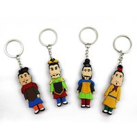 terra cotta - 4pcs Terra cotta warriors polymer clay polymer clay keychain alloy small gift small gift souvenir