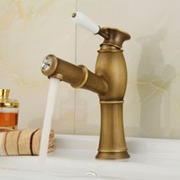 antique nickel bathroom faucet - new Pull Out Antique Kitchen Faucet Crystal Copper Sink Nickel Brushed Kitchen Mixer mixers faucets bathroom faucet Q992