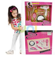 Wholesale 10pcs set New baby girl simulation make up set toy Hair Tools kids Pretend Play Classic Toys Educational Learning Toy Xmas Gifts