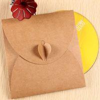 cd dvd sleeves - DHL cm quot Kraft Paper Discs CD Sleeve Wedding Party CD DVD Packaging Envelopes Case Cover Bag Box Holder