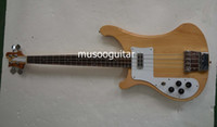 left handed bass guitar - High Quality New RICK string natural wood color Electric Bass in left hand Guitar With maple body