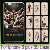 american draw - USA American football Basketball Player Design Cases Soft TPU Clear Cover For iPhone S s Plus Cellphone Cases Coloured Drawing Skin
