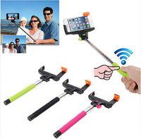 Wholesale Z07 Selfie Stick MONOPOD Extendable Telescopic Holder Built in Bluetooth Shutter for smart cellphone he