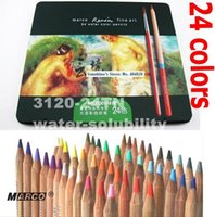 Wholesale TOP Quality Professional Art Coloured Water solubility Pencil High Quality Colors In Famous Products MARCO TN