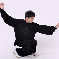 Wholesale Allison practicing tai chi clothing promoting cotton soft breathable Chinese martial arts clothing black men and women