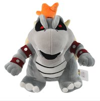 Wholesale 50 EMS Super Mario D Land Skeletal Dry Bowser Bones Plush Soft Toy Doll Teddy quot NWT