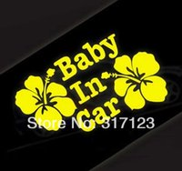 baby bumper stickers - pieces Flower with Baby in car funny car stickers decals cm bumper stickers