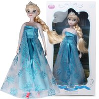 Cheap 2014 New Frozen Toys Adventure Queen Snow Princess 33CM DIY Elsa Joint Movable Collectors Edition Doll For Baby Girls Gifts FT0021