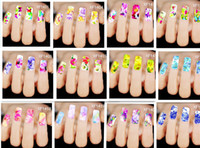 nail tattoo sticker - 2015 Hot selling Water Transfer Nail Decals Colorful Flowers Butterfly Designs Watermark Nail Art Stickers Tattoos Decorations Tools