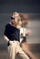 Cheap Women Soft Cotton Casual Batwing Short Oversized Loose Blouse Top T-shirt