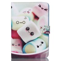 Wholesale Lovely Marshmallow Cartoon Leather Flip Stand Book Cover Case For Samsung Galaxy Tab A quot T350 T351 T355 Tablet New