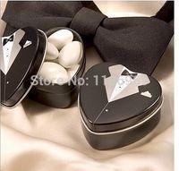 Cheap Bride groom Mint tin metal wedding favor box 600PCS LOT dressed to the nines wedding candy box