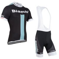 bianchi - Bianchi New Arrival Cycling Jersey Set Short Sleeve Cycling Clothes With Cycling Tops Padded Bib None Bib Trousers Bike Suit