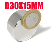 30 * 15 n52 aimant 1pc N35 fort cylindre rond 30mm x 15mm Magnet Disc Rare aimant néodyme Terre