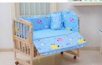 Wholesale Baby crib bedding set cartoon bedding set cotton bedclothes bed decoration include pillow bumpers mattress