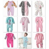 Wholesale 2015 Baby Rompers Cotton Body suits Long Pajamas Romper First Movement Toddler ONE PIECES Clothes