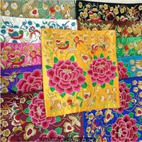 Wholesale Single sided embroidered silk Cloth art act the role ofing is tasted Furniture is put decorative embroidery Peony embroidery clothes to fil